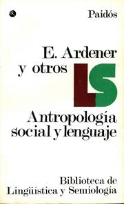 Antropología social y lenguaje